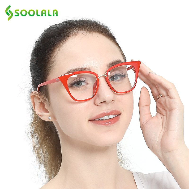 3b15bb85703 SOOLALA Oversized Cat Eye Reading Glasses 2pcs Eyeglasses Frame Women Men  Reading Glasses +0.5 0.75 1.25 1.5 1.75 2.25 to 4.0