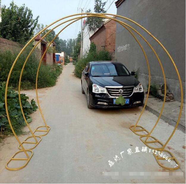 Wedding props golden ring shaped archWedding props golden ring shaped arch