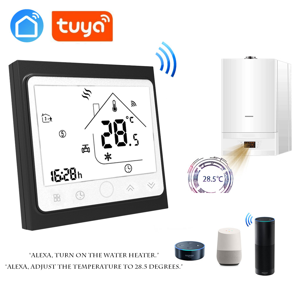 TUYA LIFE WiFi Smart Water Electric Warm Floor Heating Water Gas Boiler Works Thermostat Temperature Controller With Echo Google