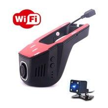 Автомобильный dvr wifi 1080 P двойной объектив автомобиля мини камеры зеркало заднего вида регистратор Dashcam регистратор видеокамера петля видео 170 градусов