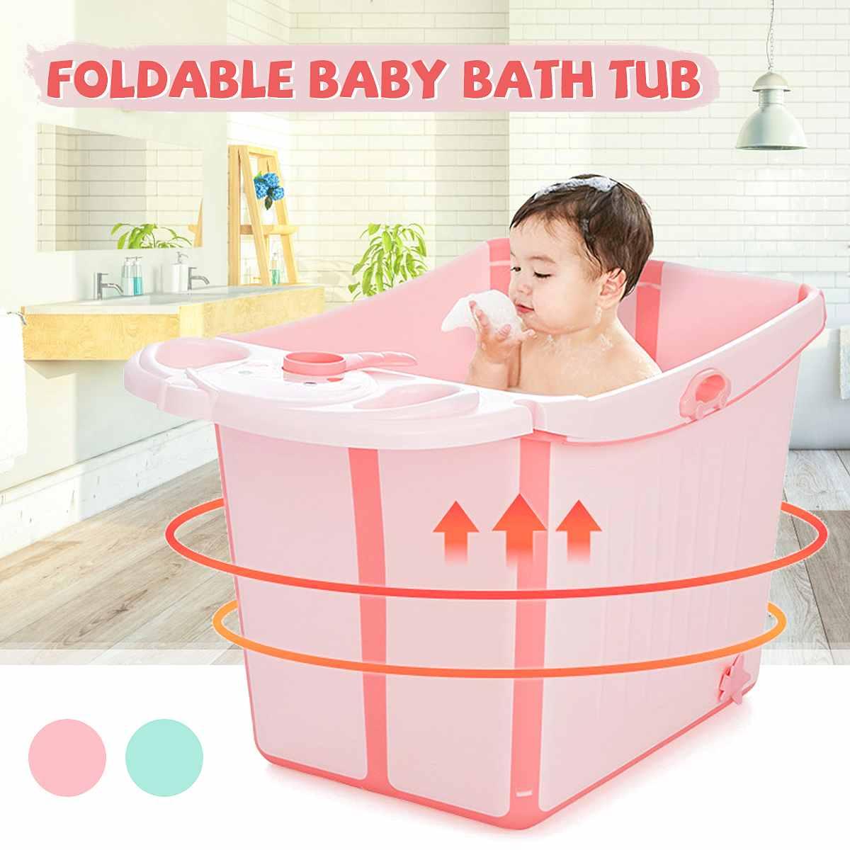 Baignoire Portable enfants grande baignoire pliable bébé enfant baignoire bébé douche garder au chaud multifonction boîte de rangement jouet boîte baignoire