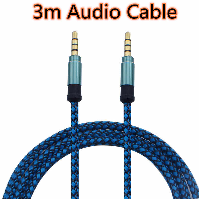 3 meters Audio Cable 3.5mm Jack AUX Cable Earphone Audio Adapter for Car MP3 MP4 Headphone Male Aux Line for Samsung Xiaomi
