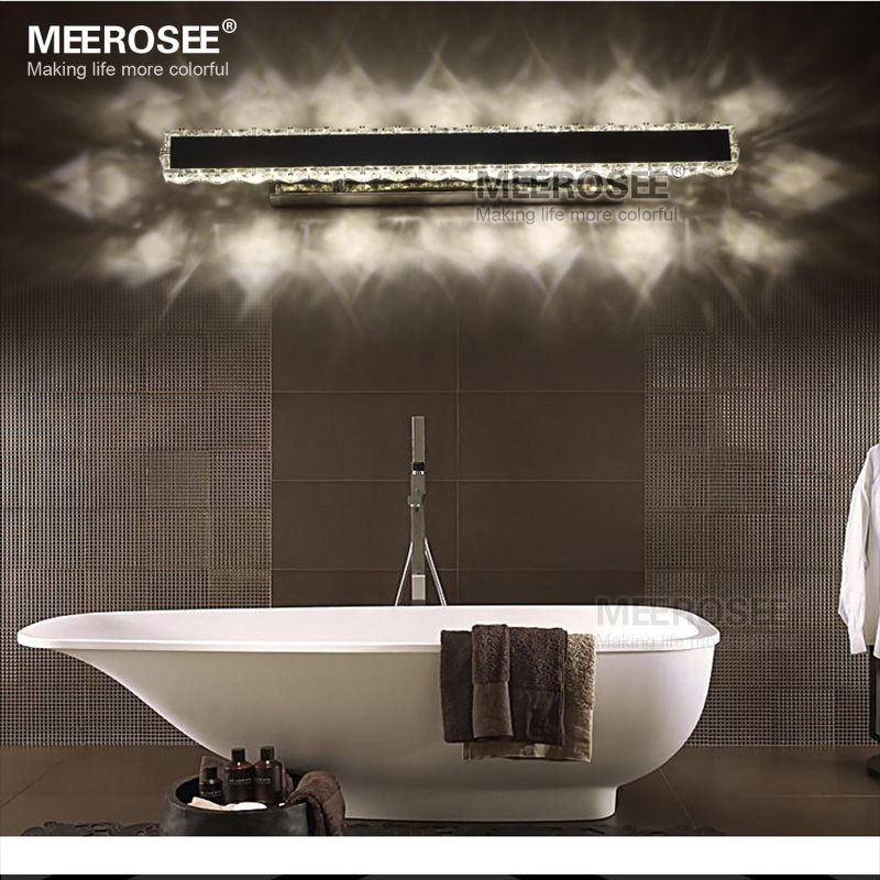 Modern LED Crystal Wall Light Chrome LED Bedroom Lighting Crsytal Wall Lamp for Bathroom Study Porch MD81538 modern lustre chrome metal led wall lights creative wifi model crystal bedroom led wall lamp corridor led lighting light fixture