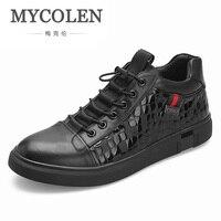 MYCOLEN 2018 Новый Дизайн Для мужчин мужская обувь кроссовки Для мужчин с высоким берцем обувь на плоской подошве Элитный бренд модная повседнев