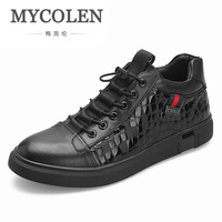 MYCOLEN 2018 New Design Men's Shoes Sneakers Men High Top Flats Shoes Luxury Brand Top Fashion Casual Shoes Zapato Hombre Piel