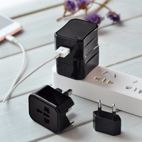HOCO Portable Single Port Convenient Universal Converter Charger Power Adapter With 4 Standard Plugs Set For