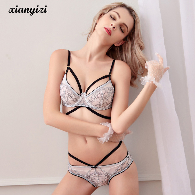 5b1cd84d2d635 New Women Lace Bra Set Sexy Embroidery Push Up Underwear Sets Thin Bra and Panty  Set Lady Lingerie sujetador de encaje abc