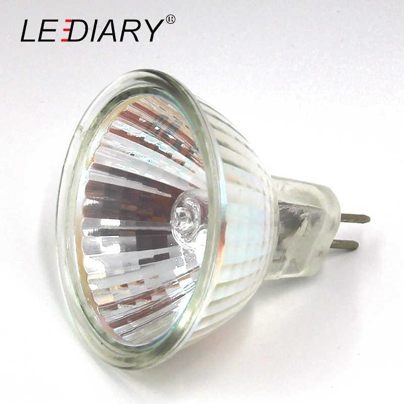 LEDIARY 10PCS Dimbare MR16 JCDR GU5.3 Halogeen Spot Light 12 V/220 V 35/50W Hoge lumen Halogeenlamp Cup Vorm Lamp Helder Glas
