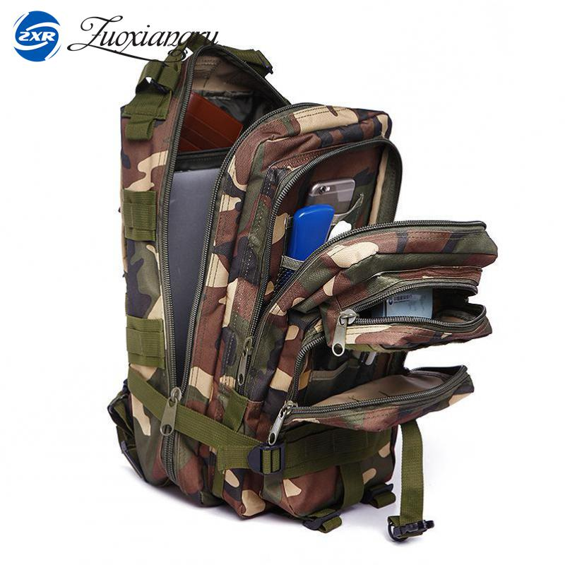 ZUOXIANGRU Male Backpack Military Camouflage Backpack Multifunctionl Army Bag Waterproof Nylon Travel Bags