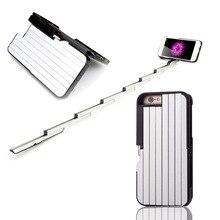 Многофункциональный телефон случаях case cover для iphone 6 6s 7 плюс 6 плюс таймер ручной рычаг автоспуска selfie палка моды новый