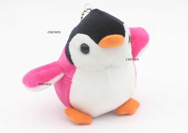 4 צבעים, חדש את פינגווין 8CM בפלאש ממולא צעצוע בובת; חתונה זר צעצוע בובה