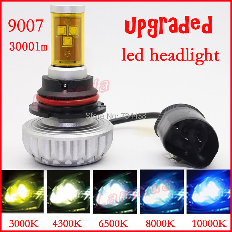 free shipping vehicle 9007 Hi/Lo LED Head light car LED head lamp 28w 3000lm HB5 High/Low beam motorcycle head lights гарнитура hi fun hi head pink light grey