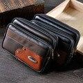 ShowMi 2016 Hombres de Calidad Superior Del Teléfono Celular de la Carpeta Mini Bolso de La Cintura Casual Doble Cremallera Pequeño Cinturón Bolsa de Hombre Embrague Monedero de la cartera