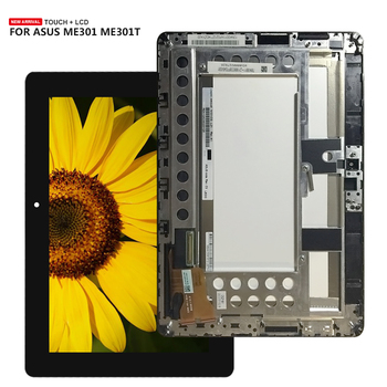 For ASUS Memo Pad Smart ME301 ME301T 5280N FPC-1 LCD Display Touch Screen Panel Digitizer Glass Assembly with Frame + Tools