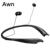 Awn Sweatproof Bluetooth Banda Para El Cuello Auriculares In-Ear Auriculares con Micrófono Incorporado auriculares 15 Horas de Reproducción para el iphone Samsung LG