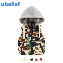 UBELIEF Kids Down Coats and Jackets Boys Down Jacket Kids Boys Camouflage Vest Down Feather Waistcoat winterBaby Down Coats Kids