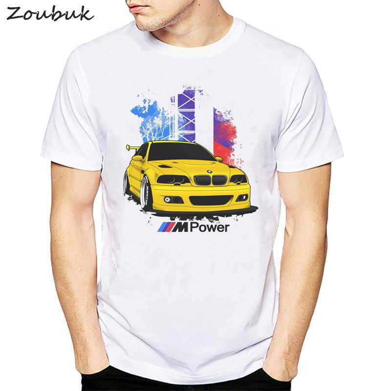 baf1ad56eb6 Cool Cars T shirt Men e30 e36 e46 e82 e92 printed summer tops fashion White  short