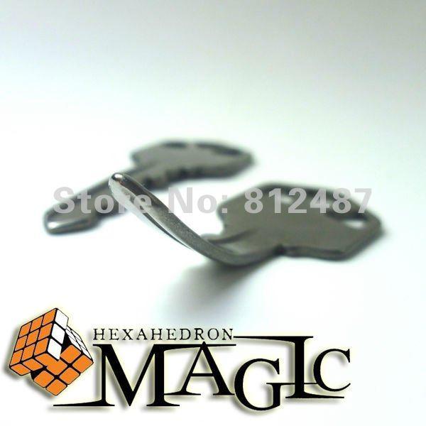 Ellusionist shift self bending key - origina item without box  / Psy key  - close-up mentalism magic trick / wholesale close-up