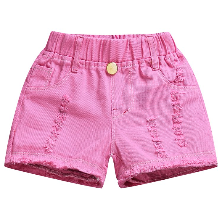 2018 Summer New Arrival Candy Color Girls Shorts Cotton Solid Kids Elastic Waist Shorts For Girls Clothes Toddler Denim Shorts girls tshirt brand hollow sleeveless o neck baby girl shorts solid elastic waist 2 pieces kids clothes girls 2792w