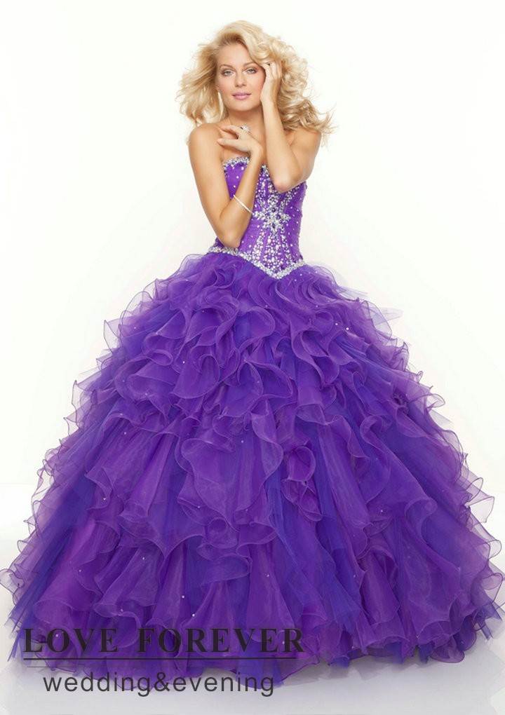 Aliexpress.com : Buy Hot Pink Light Blue Purple Organza Ruffles ...