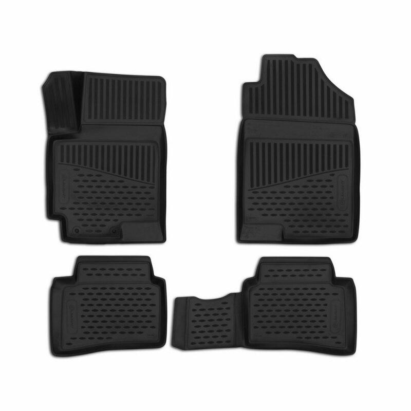 Car Mats 3D salon for HYUNDAI Solaris 2017->, Comfort, 4 PCs (polyurethane) car mats 3d salon for hyundai elantra 2007 2010 4 pcs polyurethane