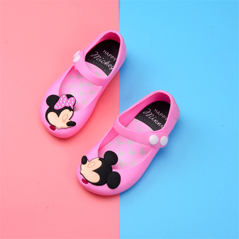 Brand New Children Shoes Mini Melissa Mickey Girl Sandals Non-slip Girl Shoes Cheap Sandals For Kids Jelly Sandals Shoes