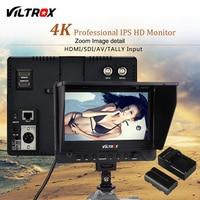 Viltrox DC 70EX 7 ''4 К профессиональный HD Камера видео монитор ЖК дисплей Дисплей 1024*600 HDMI SDI Вход для DSLR Canon Nikon видеокамера