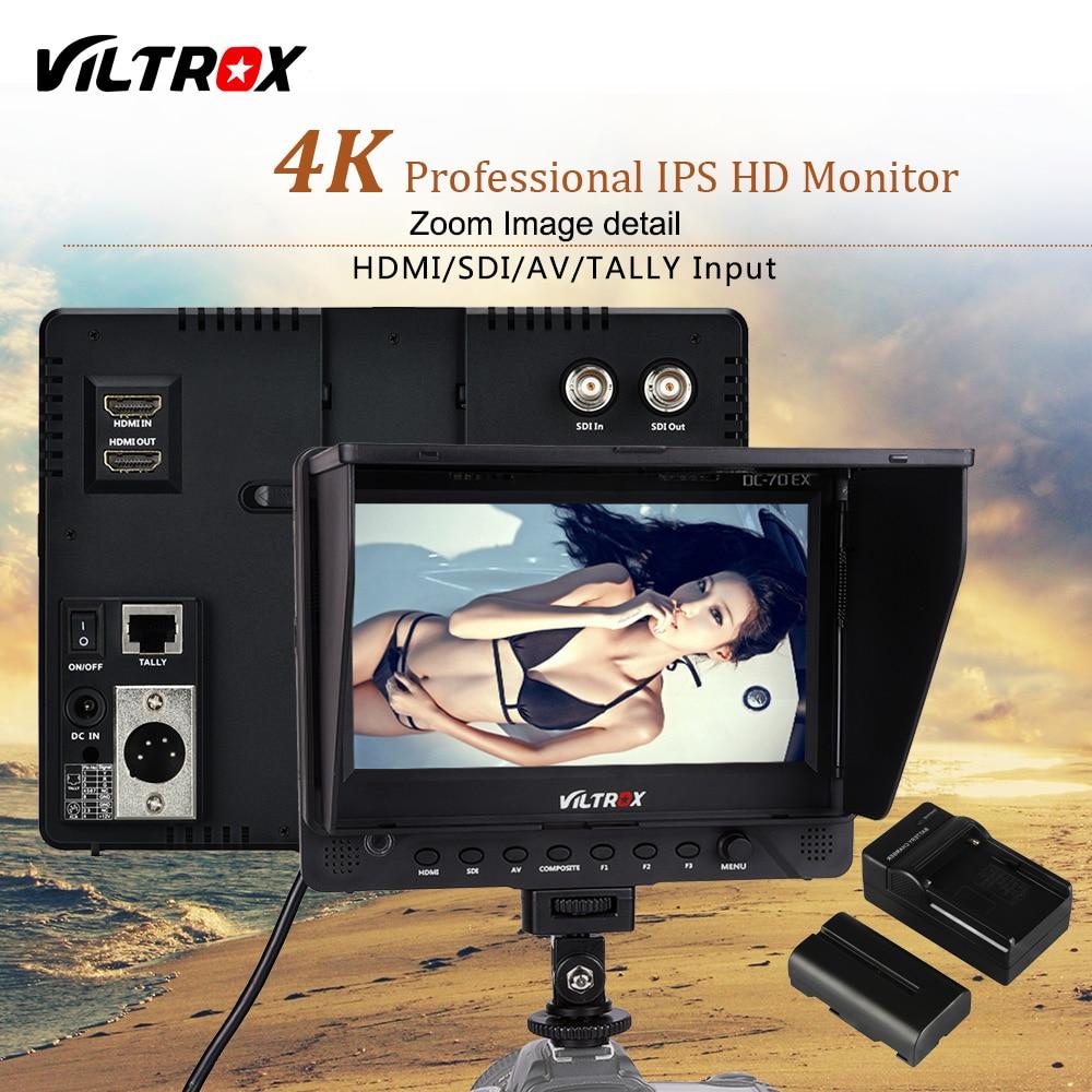 Viltrox DC-70EX 7'' 4K Professional HD Camera Video Monitor LCD Display 1024*600 HDMI SDI Input For DSLR Canon Nikon Camcorder