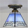 Tiffany lâmpada do teto, estilo europeu Barroco, Med, Bohemia tiffany luz de montagem em superfície, 22 cm decoração do lobby TFC-004-22CM