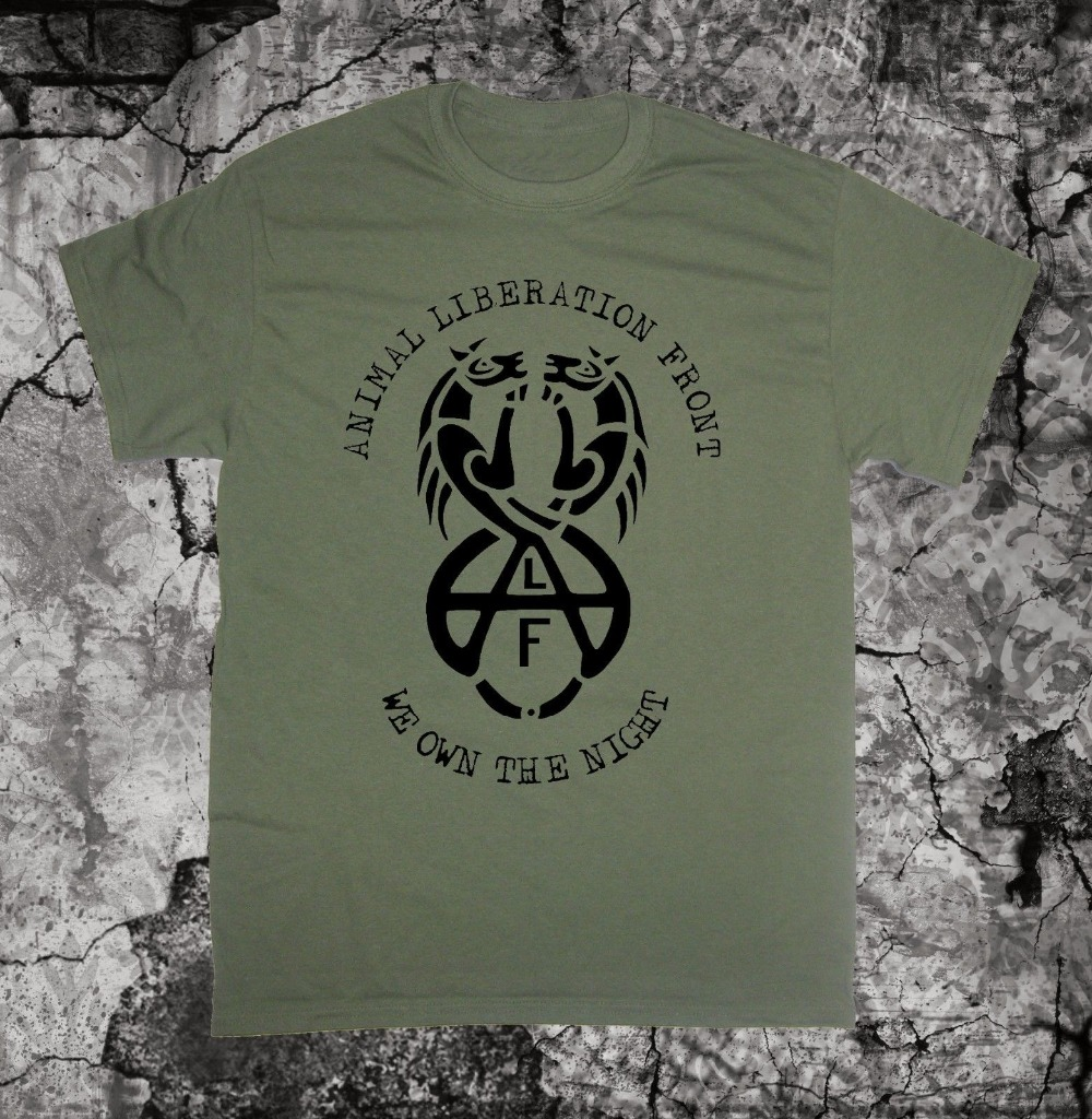 3aca2fc2879 Men T Shirt 2018 Summer 100% Cotton Animal Liberation Front T-Shirt Shirt  Vegan