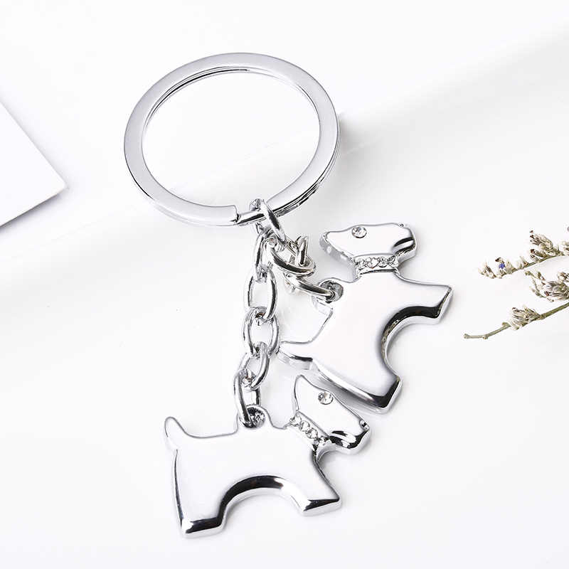 2019 Criativas Chaveiros Bonito Chihuahua Dog Chaveiros Chave Anéis Titular Chaveiro Pingente de Osso Cão Clássico DIY Metal Keychain