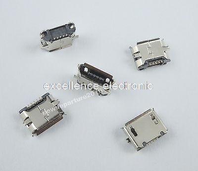 50Pcs Micro USB B Female 5Pin SMT Socket Connector DIY 20pcs micro usb connector 5 pin smt type b female placement smd dip socket connector