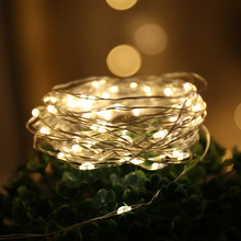 купить 1M 2M 3M 4M 5M 10M 100 Led Strings Copper Wire 3XAA Battery Operated Christmas Wedding Party Decoration LED String Fairy Lights дешево