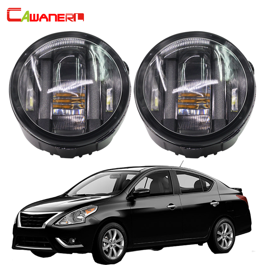 Cawanerl 1 Pair Car LED Fog Light DRL Daytime Running Lamps Car Styling For Nissan Versa 2007 2008 2009 2010 2011