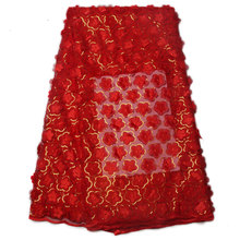 High Quality African 3D Lace Fabric