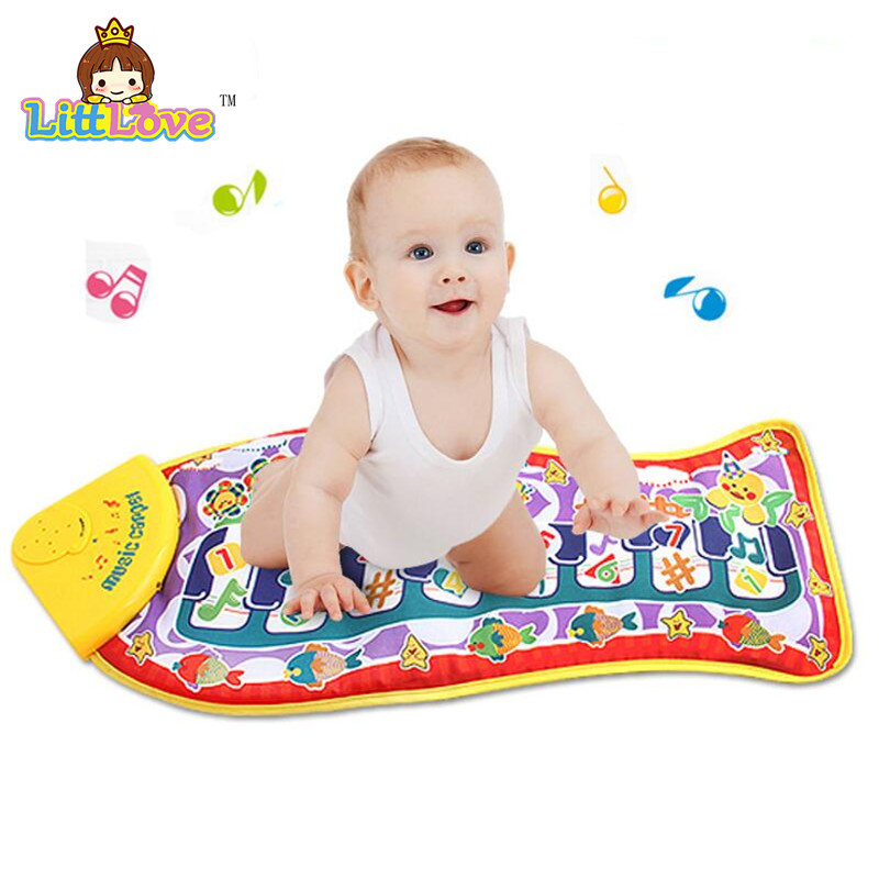 LittLove 2017 Baby Play Mat Mat Type Type Electronic Mat Baby Crawling Mat Little Fish Shape Music Sounds Siano Piano Mat Kids Toys
