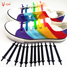 Suit 1 Set 12pcs New Creative Flexible Luminous Silicone Lazy Laces Round Creative No Tie Shoelaces Elastic Silicone Shoe Laces 12pcs lot creative elastic sleeveless tied crocheted shoelace black round creative no tie shoelaces elastic silicone shoe lace