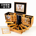 storage box Ultra large jewelry box real wooden European Princess high-end jewelry Boxes  incorporating wedding gifts 36*30*24cm