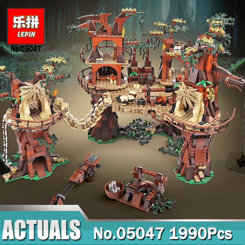 1990pcs Lepin Wars on Star 05047 Ewok Village Building Blocks Juguete Para Construir Bricks Toys Compatible Legoinglys 10236 2016 new lepin 05047 1990pcs star wars ewok village model building kits figure blocks bricks compatible children toy 10236