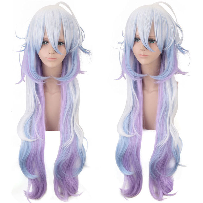 Fate/Grand Order Merlin Wig Cosplay Pretty lady Petal lace breathable Wig Halloween wig European and American mixed wigs ...