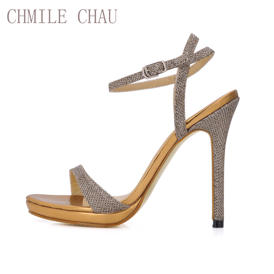 Chmile Chau Burgundy Pearl Sexy Party Womens Shoes Stiletto Heel T With Embroider Blue 12 Inchi Glitter High Ankle Strap Buckle Sandals Plus Size