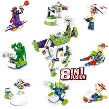 Figures 8pcs/lot Building Blocks Set Woody Buzz Lightyear Aliens Jessie Models Brick Toys For Children