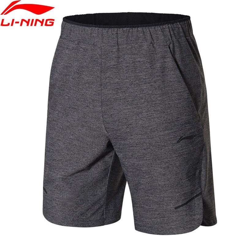 LiNing Men Training Series Sport Shorts 72% Nylon 15% Polyester 13% Spandex LiNing Leisure Exercise Sports Shorts AKSN135 Q107 outdoor sports fitness polyester spandex tight shorts for men black xl