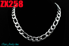 """16""""-38"""" length 316L stainless steel necklace 11mm 3+1 TK Figaro chain fashion Jewelry man male necklace chains ZX258"""