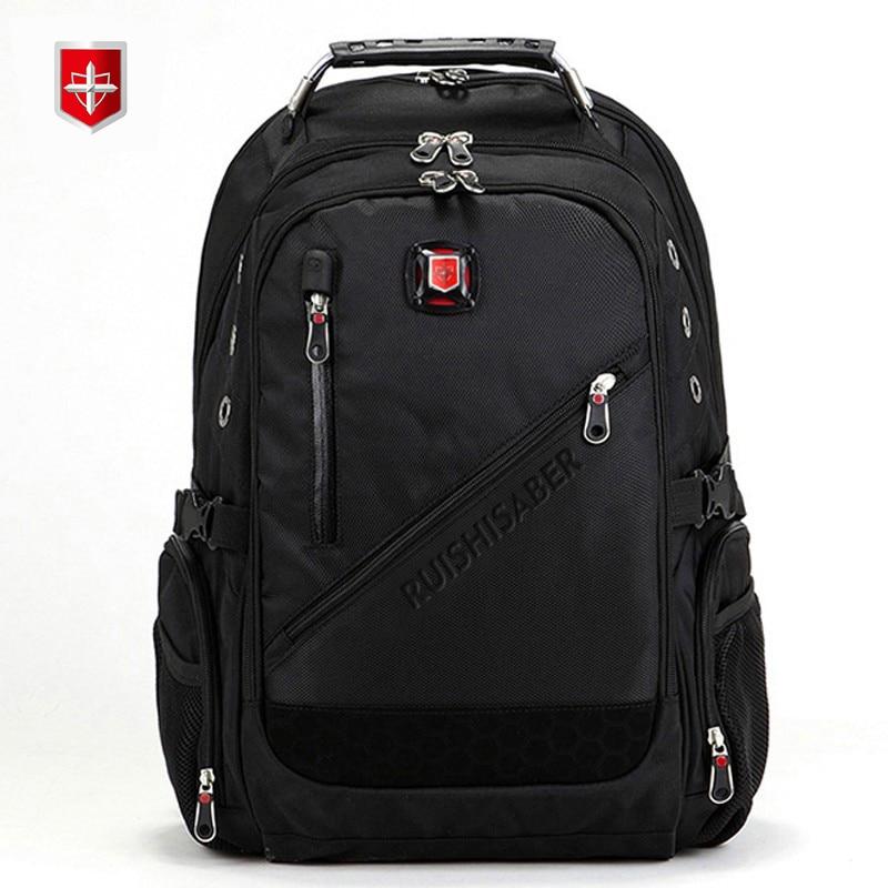 Nowy Oxford szwajcarski plecak człowiek wielofunkcyjny 15 Cal Laptop plecaki kobiety podróży plecak w stylu Vintage torby szkolne plecak mochila w Plecaki od Bagaże i torby na  Grupa 1