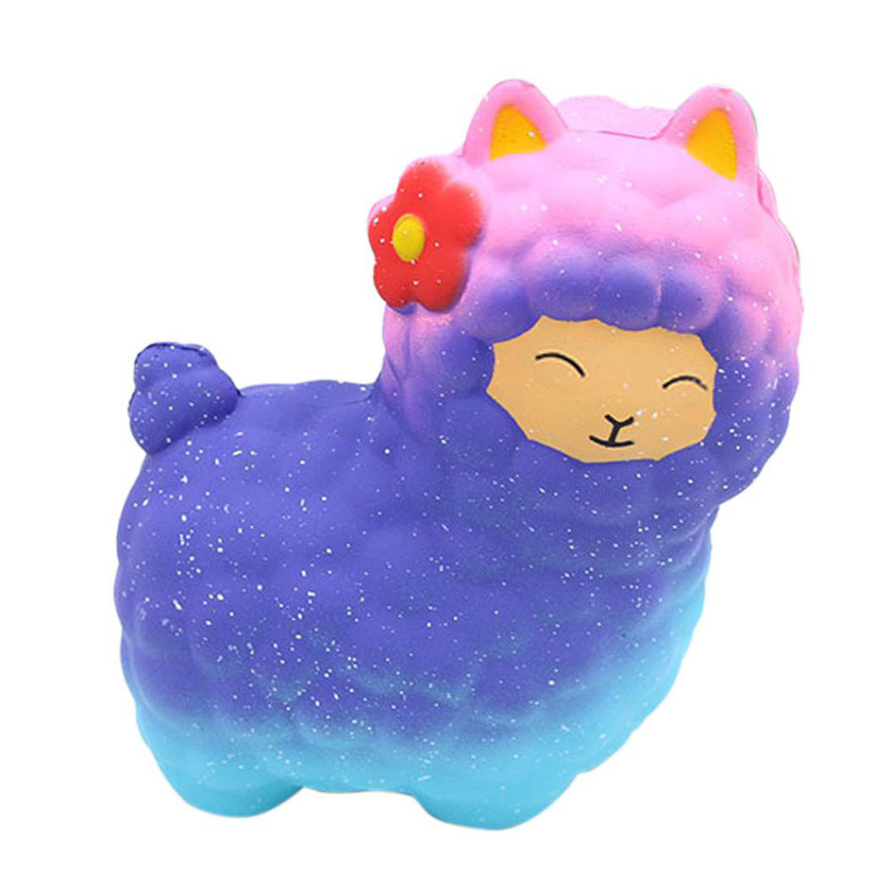 Fashion baby boy girl lovely toys Jumbo Sheep Squishy Cute Alpaca Super Slow Rising Scented Fun Animal toys for children
