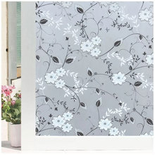 Flowers Glass Film Window Sticker Stained Frosted Opaque Balcony Kitche Privacy Film Glass Sticker Home Decorative Film 80*200cm козырь а веселые машинки мал