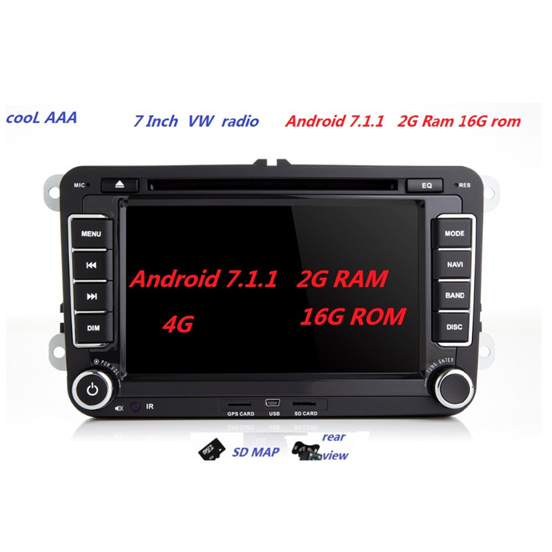 rns 510 radio android7 1 1 for vw passat b6 polo sharan. Black Bedroom Furniture Sets. Home Design Ideas