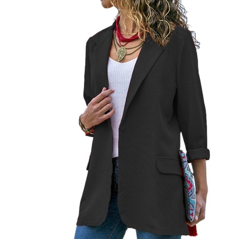 Women Blazer Long Sleeve Open Front Lightweight Casual Office Lapel Turn Down Collar Slim Jacket Outwear in Blazers from Women 39 s Clothing