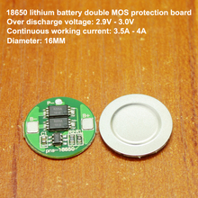 1pcs/lot 18650 lithium battery Seiko IC G3JK double MOS protection board 3.7V anti-overcharge over-discharge protection board battery anti over discharge controller with time delay over protection board low voltage off load and alarm